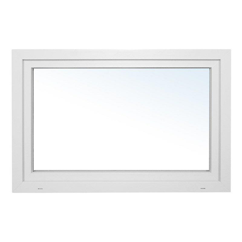 Staldvindue, Hvid, PVC m. kip, 119x79