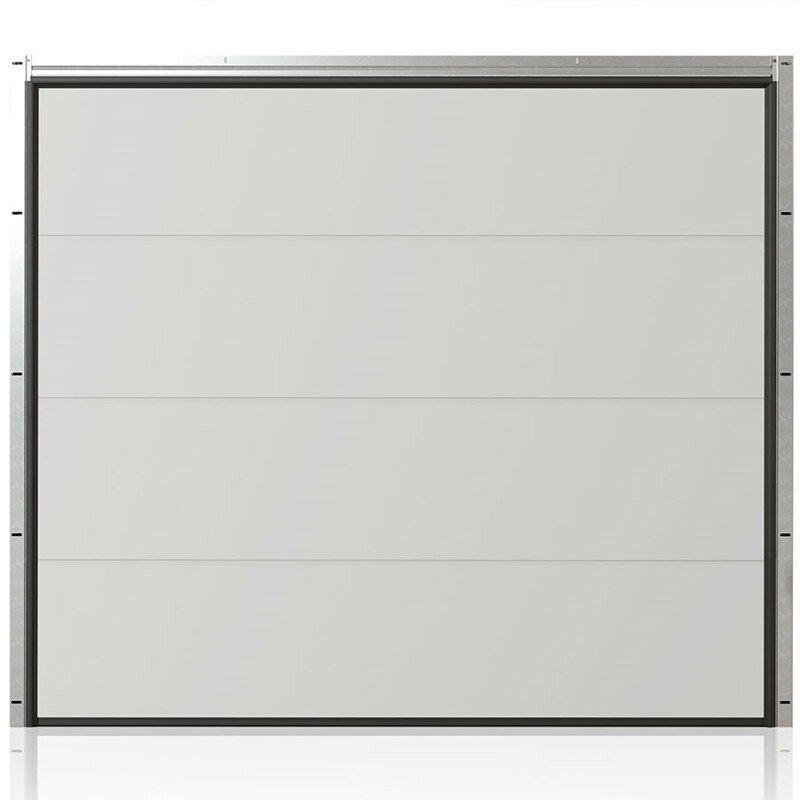 Ledhejseport fra ProDoor, Highline, Flat, Silkline, Hvid, inkl. portautomatik