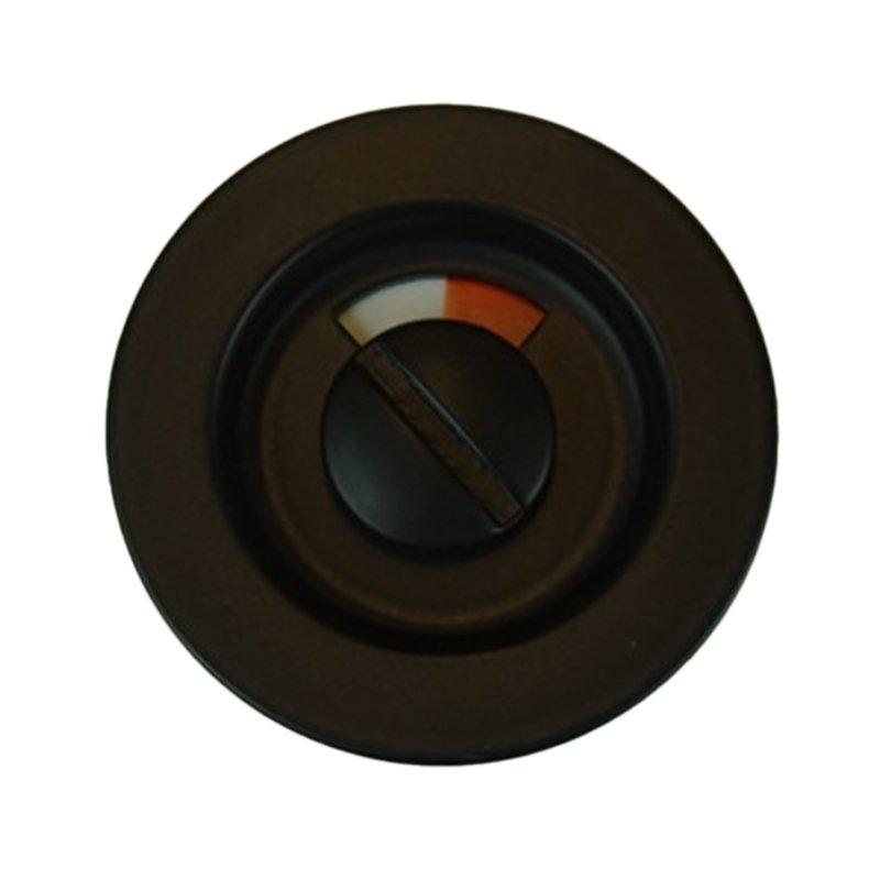 Toiletbesætning til skydedør, Sort, Undersænket