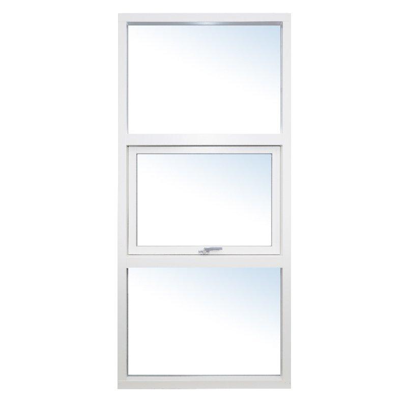 Fast udestueelement med topstyret vindue fra ProDoor, Fyrretræ, Hvid