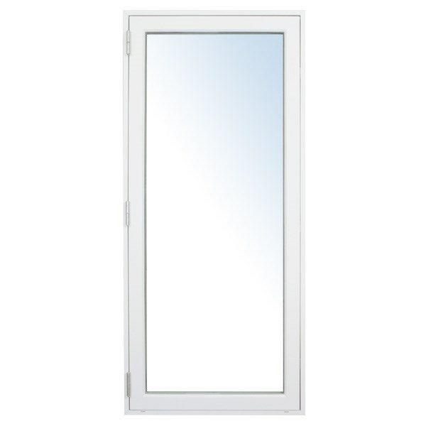Terrassedør VU, PVC, hvid