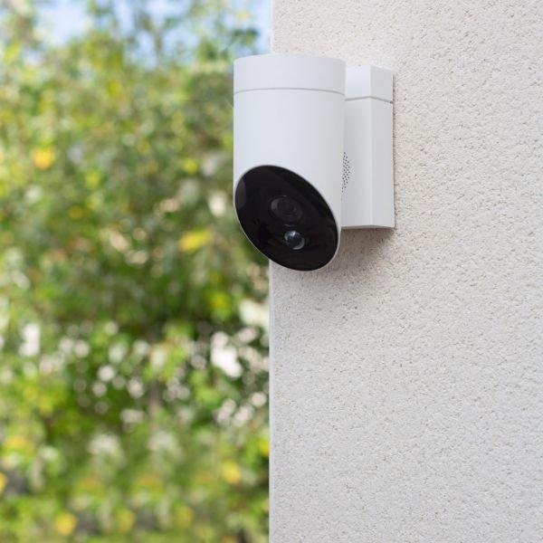 Somfy Outdoor Camera, Udendørskamera, Sikkerhedskamera, Hvid